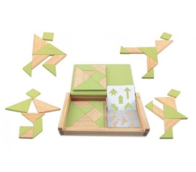 Juego Doble de Tangram Sostenible para jugar en familia