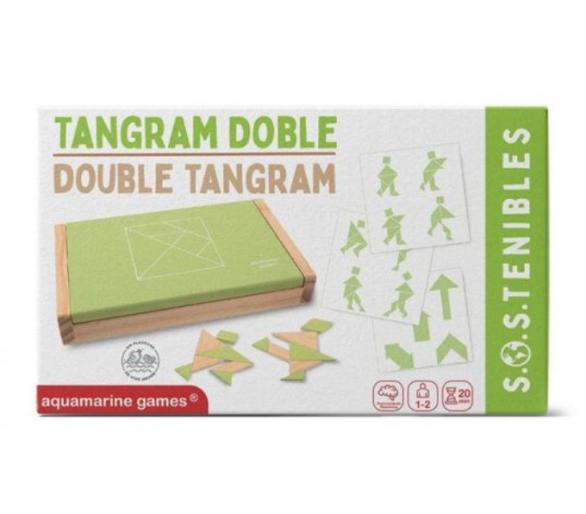 Juego Doble de Tangram Sostenible ideal para jugar con amigos