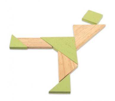 Juego Doble de Tangram Sostenible Juguetes de Viaje