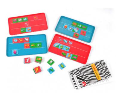 Juego Zoo Rummy Magnético para jugar con familia