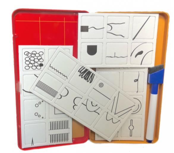Juego Dibuja y Acierta Magnético para jugar en cualquier sitio