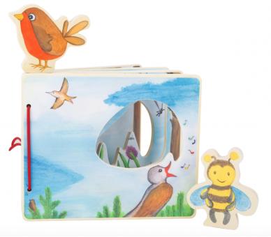 Libro Ilustrado Mundo en el Aire de Madera Eco-Friendly