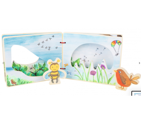 Libro Ilustrado Mundo en el Aire para entretener a los bebés sin pantallas