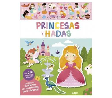 Libro Pegatinas Reutilizables Princesas para llevar a cualquier sitio
