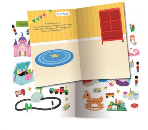 Libro de pegatinas como alternativa a las pantallas en restaurantes