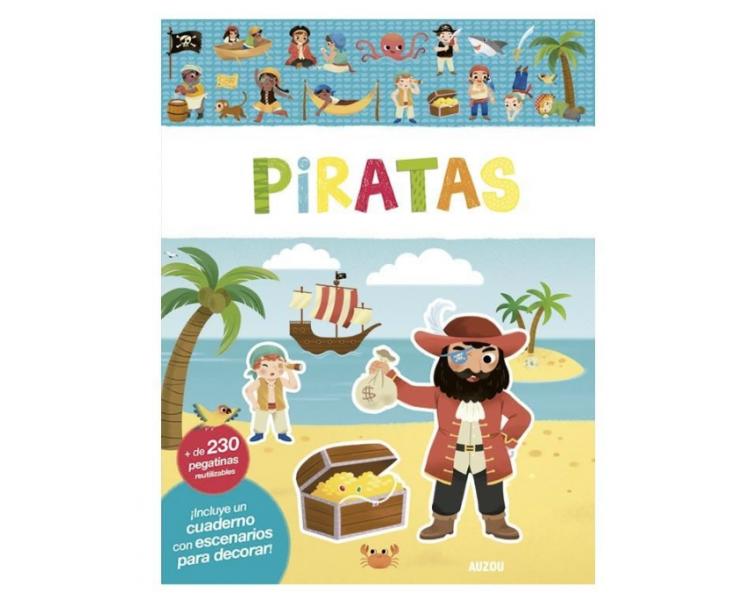 Libro Pegatinas Reutilizables Piratas para llevar a cualquier sitio