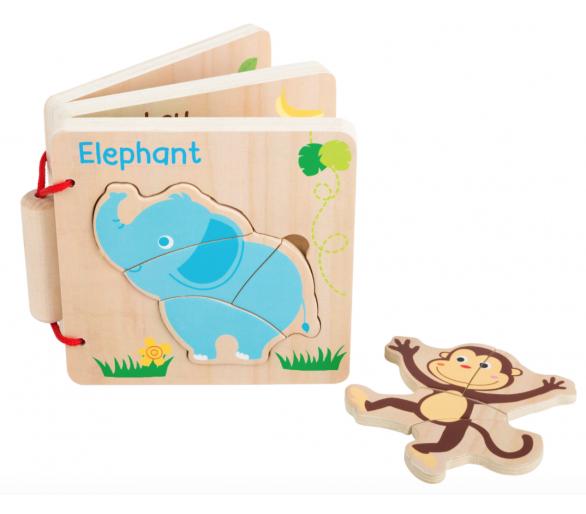 Libro Puzzle de Animales para jugar en el cochecito