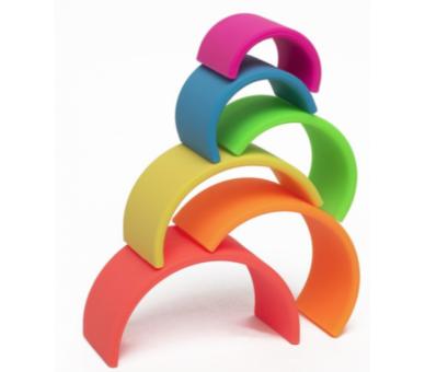 Arco Iris Waldorf de Silicona ideal para bebés