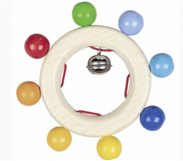 Sonajero con bolas arco iris ideal para manitas del bebé