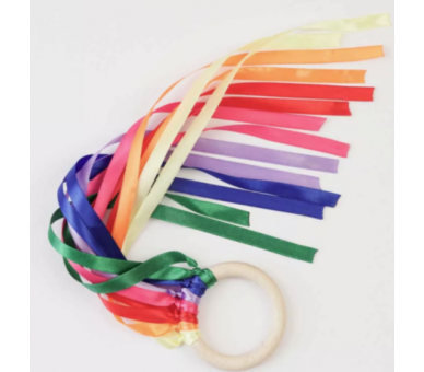 Cintas de Viento Waldorf arco iris para bebés