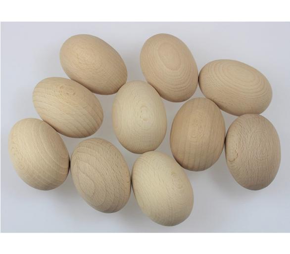 Huevos de madera para la cesta de los tesoros