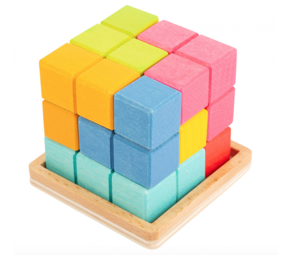 Puzle Cubo Tetris 3D Figuras +3