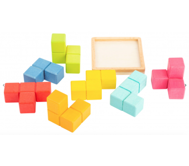 Puzzle Cubo Tetris 3D Figuras Juguete Educativo
