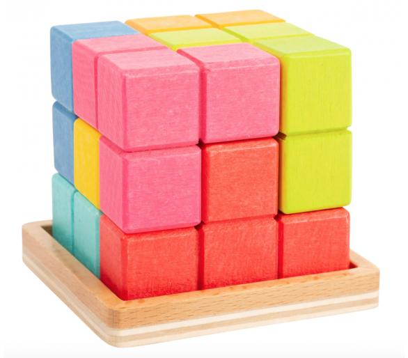 Puzle Cubo Tetris 3D Figuras en pequeño formato ideal para llevar en YupiBag