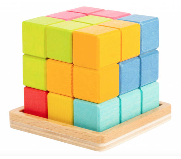 Juguete Educativo Puzzle Cubo Tetris 3D Figuras para jugar siempre