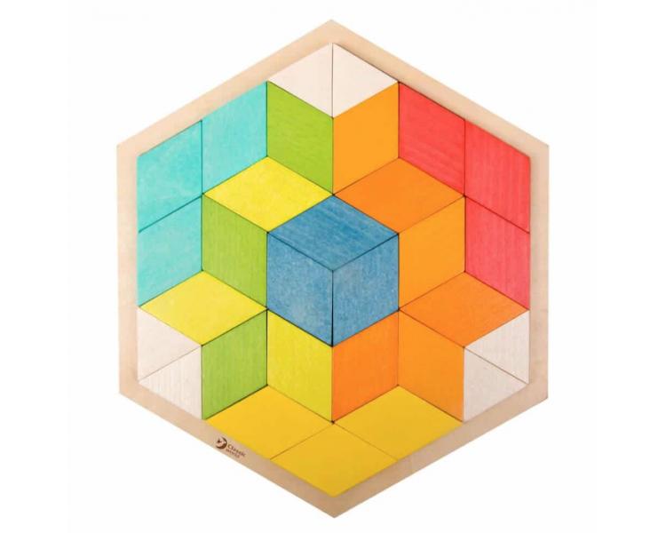 Puzzle 3D Mosaicos de Madera Juguete Educativo