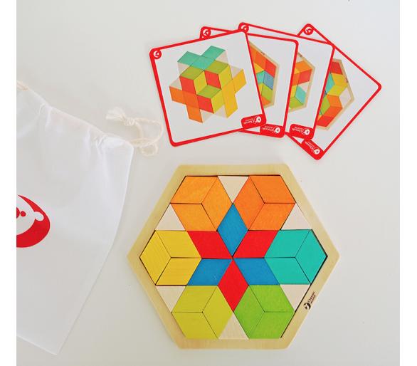 Puzzle 3D Mosaicos de Madera para jugar sin pantallas