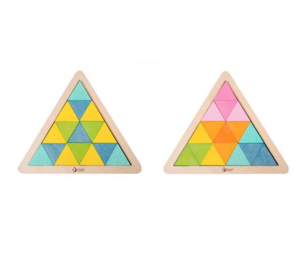 Puzzle Triángulo Mosaicos de Madera Jugar con Amigos