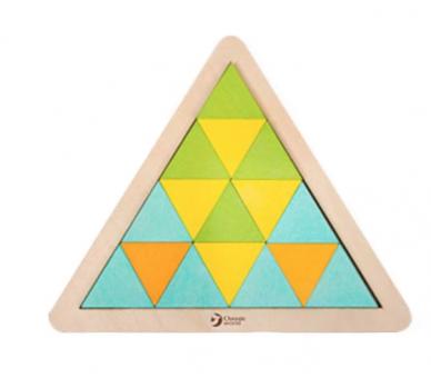 Puzzle Triángulo Mosaicos de Madera Jugar sin Pantallas