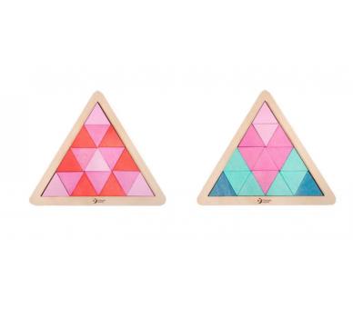 Puzzle Triángulo Mosaicos de Madera Evitar el uso de pantallas