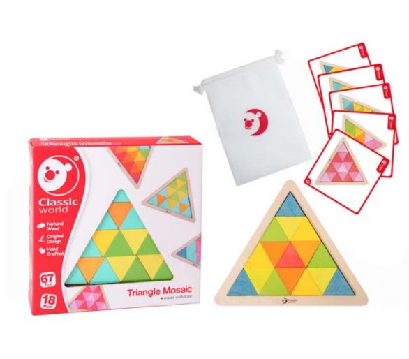 Puzzle Triángulo Mosaicos de Madera de Classic World