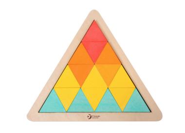 Puzzle Triángulo Mosaicos de Madera Juguete Educativo