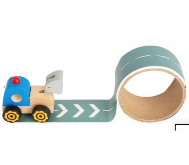 Camión de Madera con Calle resutilizable y así jugar en cualquier sitio
