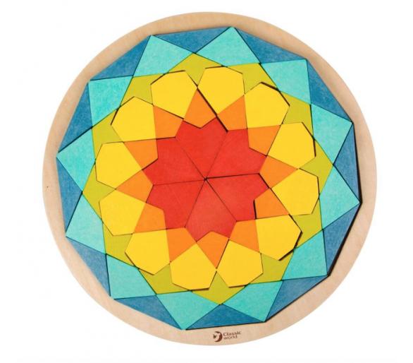 Puzzle Mandala Mosaicos de Madera Juguete Educativo