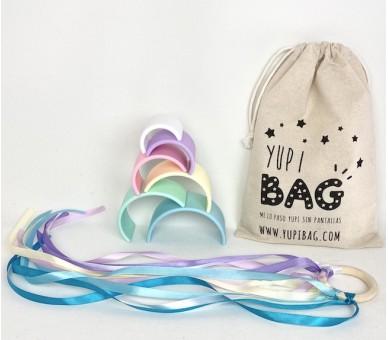 YupiBag Arco Iris Tonos Pastel Anilla Waldorf Regalo para Bebés