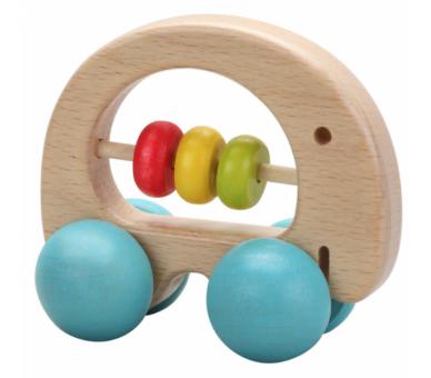 Sonajero elefante coche de madera para regalar a los bebés