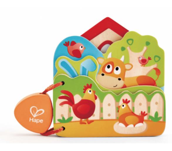 Libro de madera para bebés y entretener sin pantallas