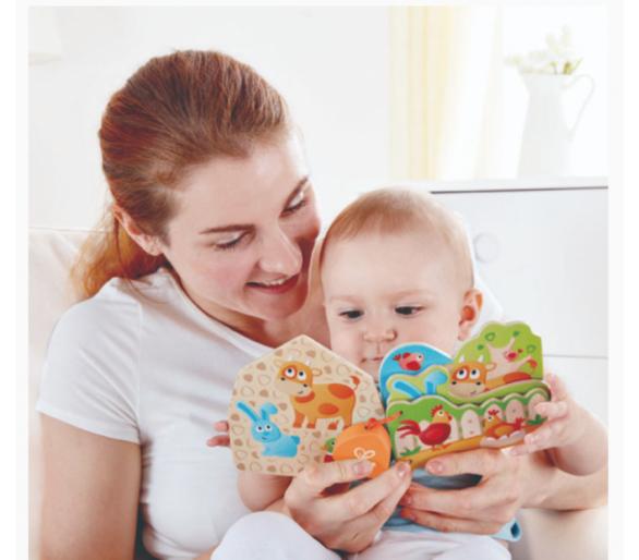 Libro para bebés educativo con los animales de la granja