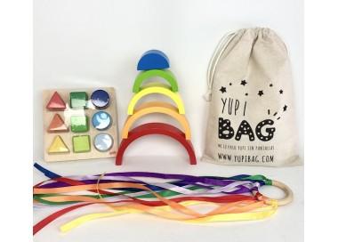 YupiBag con Arco Iris, Anilla Waldorf y Encajable Juguete Educativo