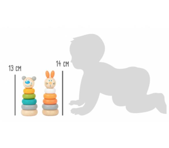 Juguete Educativo Torre Apilable Tonos Pastel Bebés
