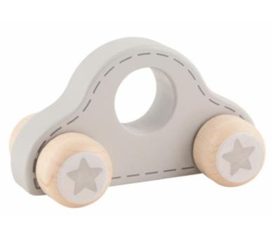 Coche gris con estrellitas súper bonito para bebés