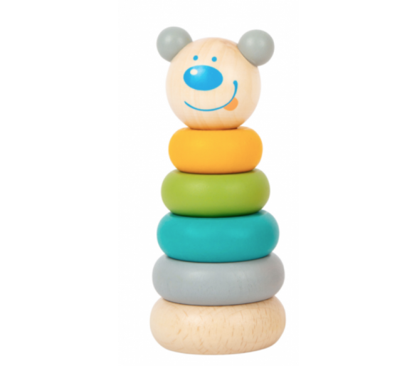 Torre Apilable Tonos Pastel Bebés Juguete Educativo para aprender