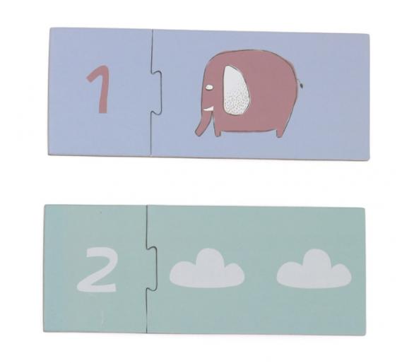 Puzzle para aprender los números para niños de 2 años