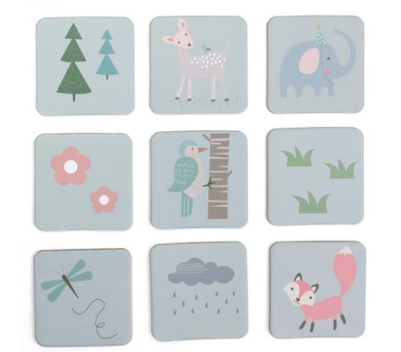 Juguete Educativo Memory en Tonos Pastel ideal para jugar juntos