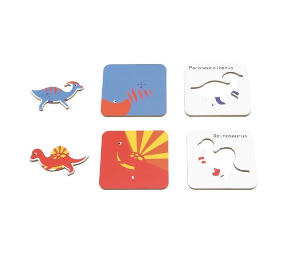 Puzzle de Dinosaurios para jugar dentro y fuera de casa