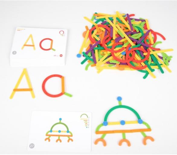 GeoStix Letras y Hacer Figuras Juguete Educativo