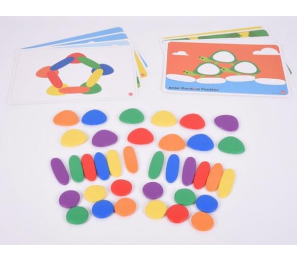 Juguete educativo piedras arco iris para bebés