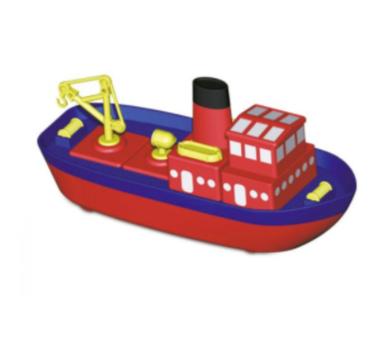 Juguete educativo para construir un barco con imanes
