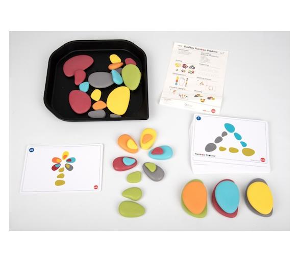 Juguete Educativo piedras en tonos pastel