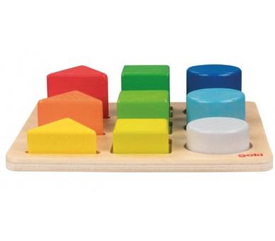 Juguete Educativo Arco Iris Encajable Formas y Colores