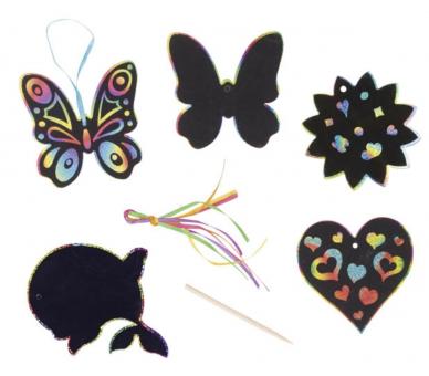 6 Láminas para Rascar Mariposa y ofrecer a cambio de móviles/tablets