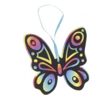6 Láminas para Rascar Mariposa y evitar el uso de pantallas