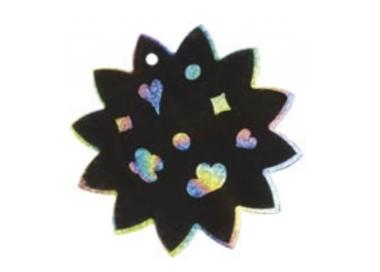 6 Láminas para Rascar Flor para ofrecer a cambio de pantallas