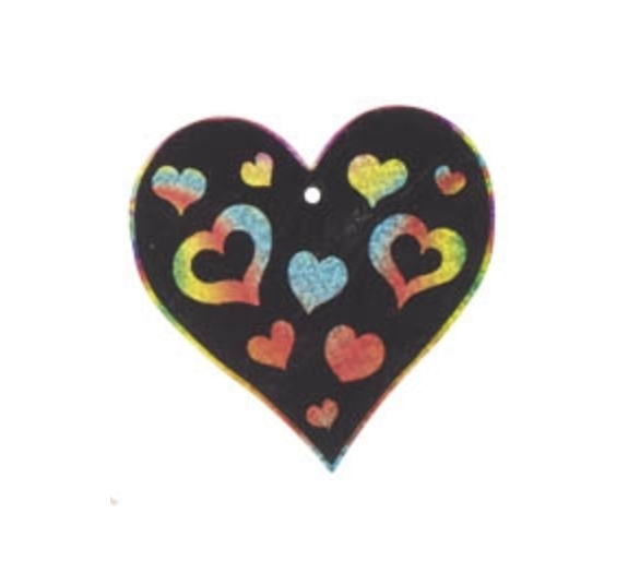 6 Láminas para Rascar Corazón +3