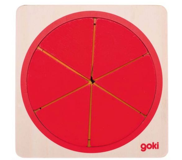 Encajable Puzle Circular Fracciones +4