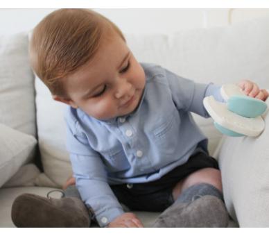 Bebé jugando con Patito de Caucho para Bebés